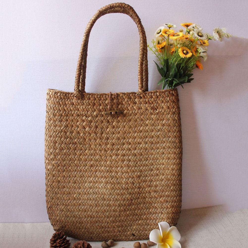 LJL femmes styliste dentelle sacs à main fourre-tout sac à main en osier rotin sac sac à bandoulière Shopping sac de paille