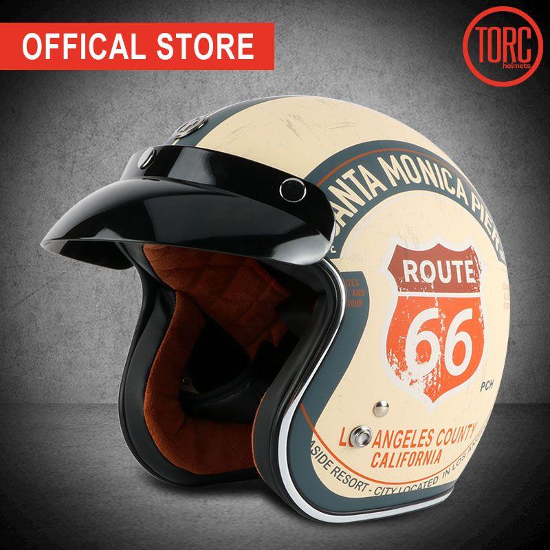 TORC brand motorcycle helmet vintage open face 3/4helmet motorbike motocross jet retro helmet capacete DOT T50 vespa moto helmet