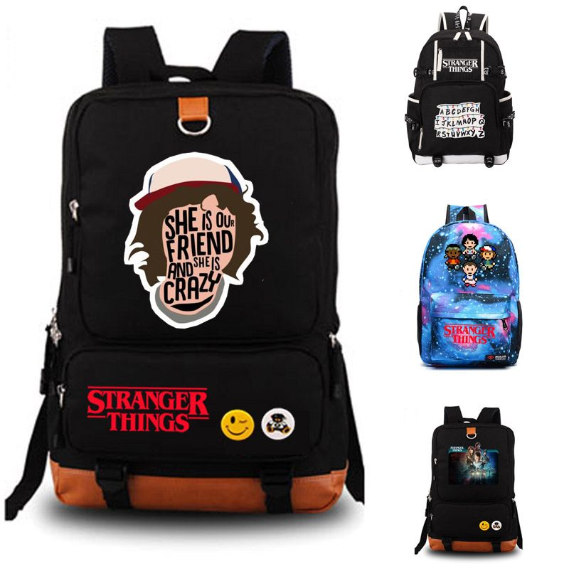 Des Choses plus étranges école sac Hommes femmes sac à dos sac d'école des élèves Portable de sac à dos à dos Tous Les Jours