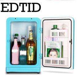 12L mini refrigerador del coche portable auto refrigerador doméstico viajes alimentos calentador eléctrico congelador refrigerador caja hogar 12 V 220 -240 V