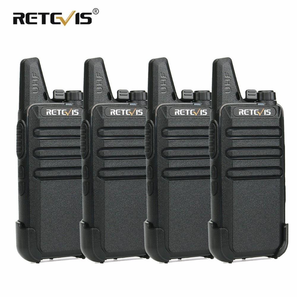 4pcs Retevis RT22 Mini Walkie Talkie 2W UHF 400-480MHz CTCSS/DCS VOX Two Way Radio Station Talkie Walkie Transceiver Comunicador