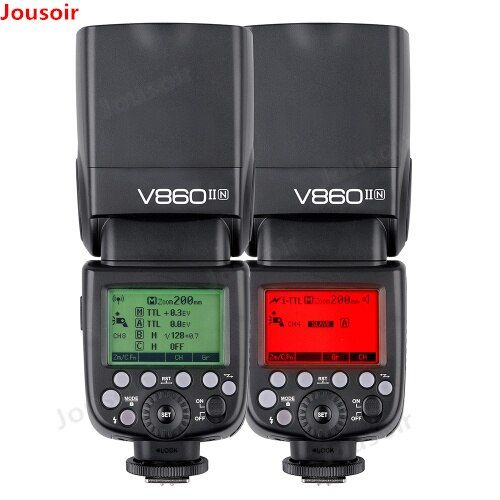Godox Ving V860II V860II-N GN60 2.4G I-TTL HSS 1/8000s Li-ion Battery Camera Speedlite Flash for N DSLR Cameras CD50