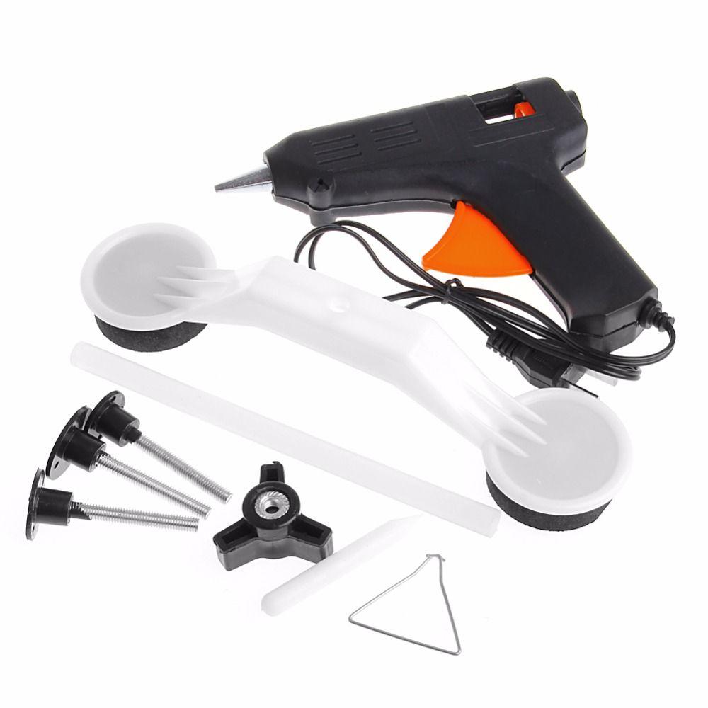 Car Auto Damage Bodywork Repair Panel Puller Tool Full Set Kit with US plug