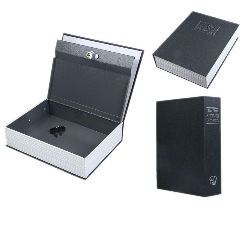 2017 Secret Box Book Safe with Key Lock Money <font><b>Jewelry</b></font> Safty Collection Case Household Locker Storage Box Cash Secure Boxes