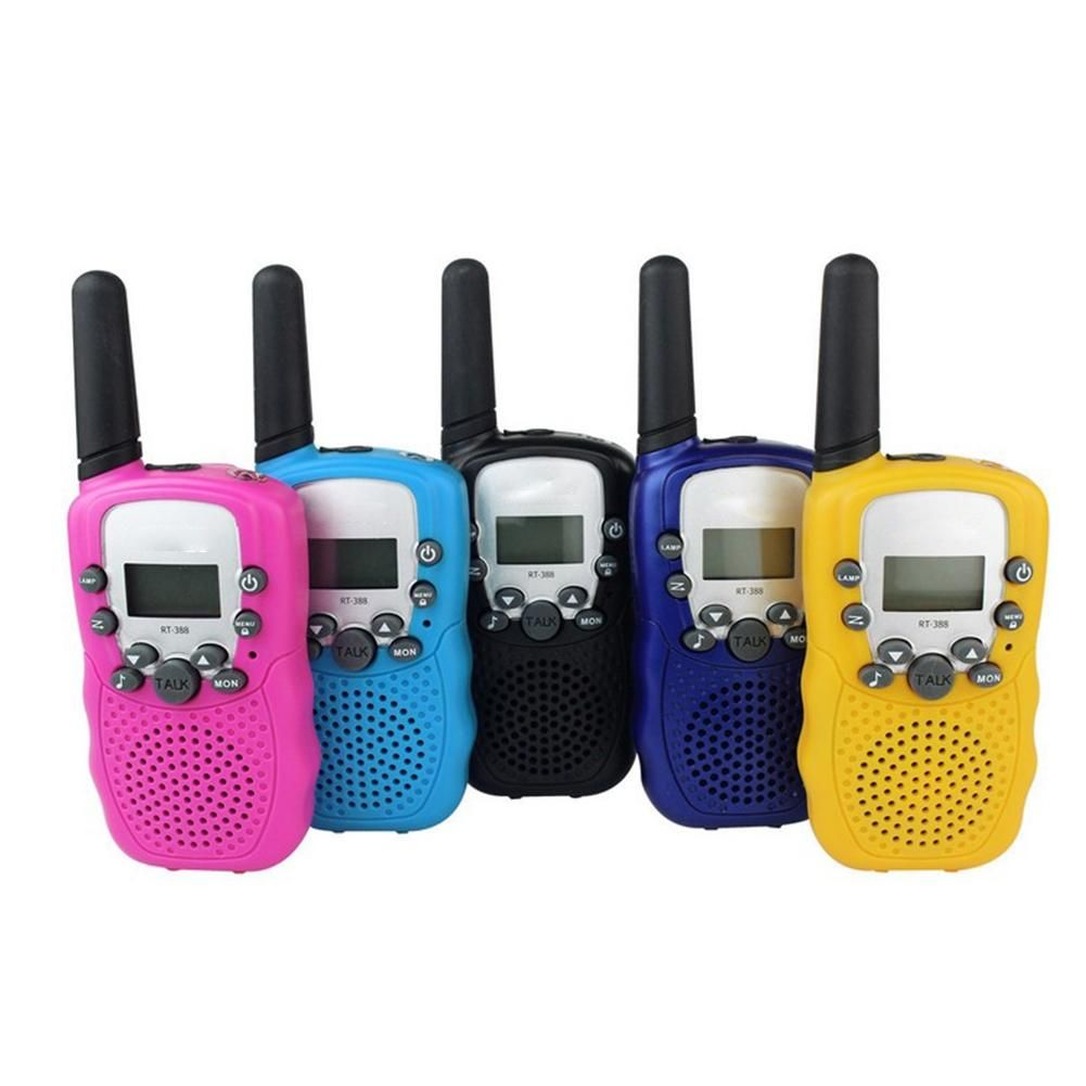 LumiParty 1 Pairs of Kids Mini Walkie Talkie Long Range LCD Display Flashlight Toy PMR and GMRS Optional