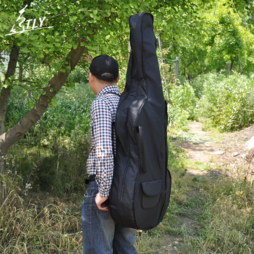 Professional Cello Case Portable Thicken Waterproof Durable Cello Soft Cover Bag Full Size 1/8 1/4 2/4 3/4 4/4