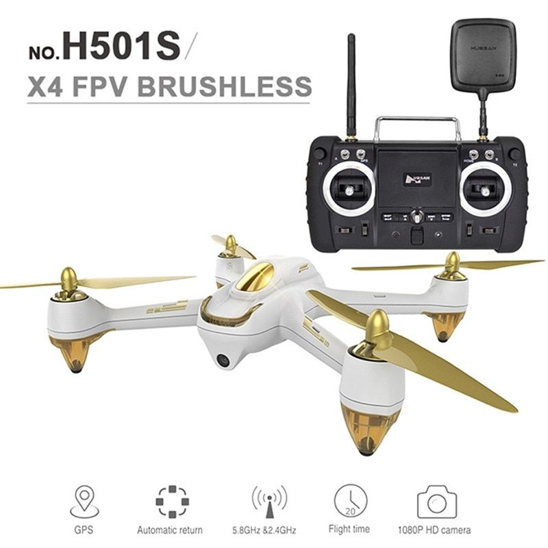 New Original Hubsan H501S X4 Pro 5.8G FPV Brushless With 1080P HD Camera GPS RC Quadcopter RTF Mode Switch With Remote Control