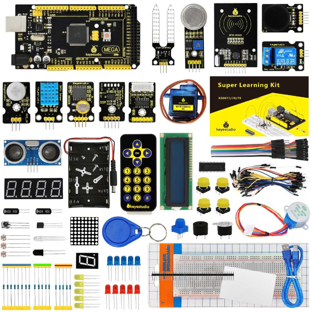 KS0079 Keyestudio Super Starter Kit/Learning Kit With Mega2560R3 For Arduino Education Project +PDF(online)+32Projects+Gift Box