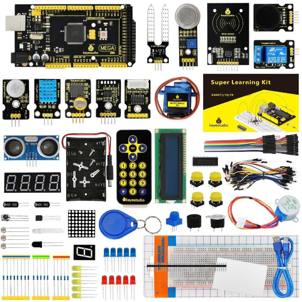 KS0079 Keyestudio <font><b>Super</b></font> Starter Kit/Learning Kit With Mega2560R3 For Arduino Education Project +PDF(online)+32Projects+Gift Box