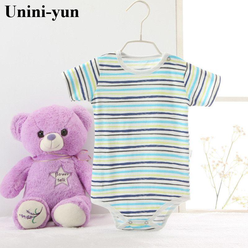 Unini Юн Одежда для маленьких мальчиков и девочек Новый стиль 100% хлопок милый ребенок Комбинезоны для малышек для Одежда для новорожденных Ко...