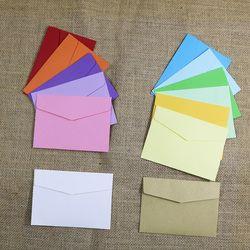 Petit Papier Enveloppes 10 pcs 13 Couleurs De Sucrerie Carte Postale De Mariage Cadeau Invitation Enveloppe Bureau Papeterie Sac De Papier 11.5x8 cm