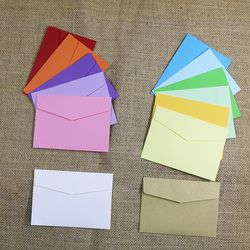 Small Paper Envelopes 10pcs 14 Candy Colors Postcard Wedding Gift Invitation Envelope Office Stationery Paper Bag 11.5x8cm