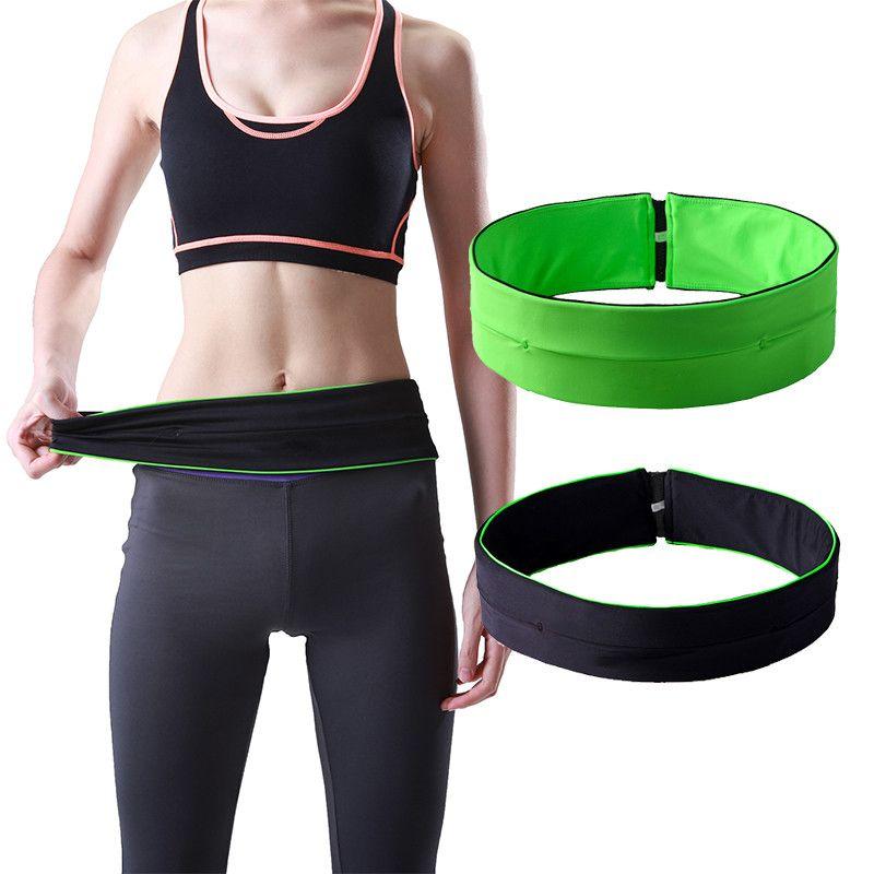 Outdoor Waist Bag Mobile Phone Anti-theft Pockets Sports Running Waist Bag Belt Yoga Close-fitting Riding Zipper Pockets Hot New