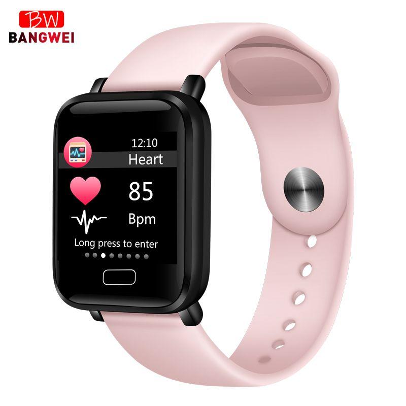 2019 nouvelles femmes montres intelligentes Sports imperméables pour Iphone téléphone Smartwatch moniteur de fréquence cardiaque fonctions de pression artérielle pour enfant