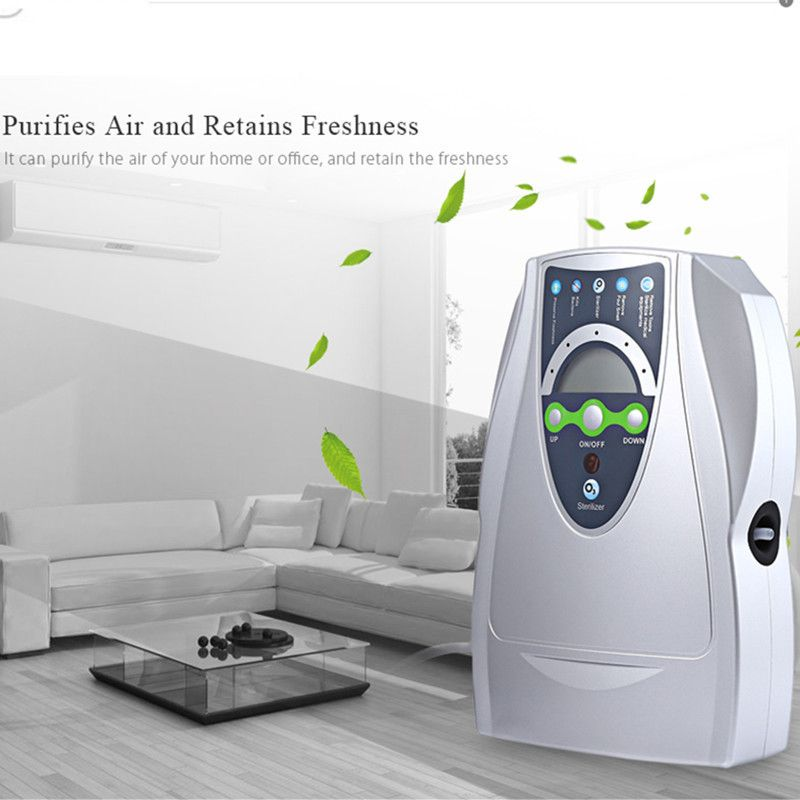 Ozone Generator Air Purifier Household Portable Ozone Disinfector for Fruit Vegetable air water Sterilization with EU/US Plug