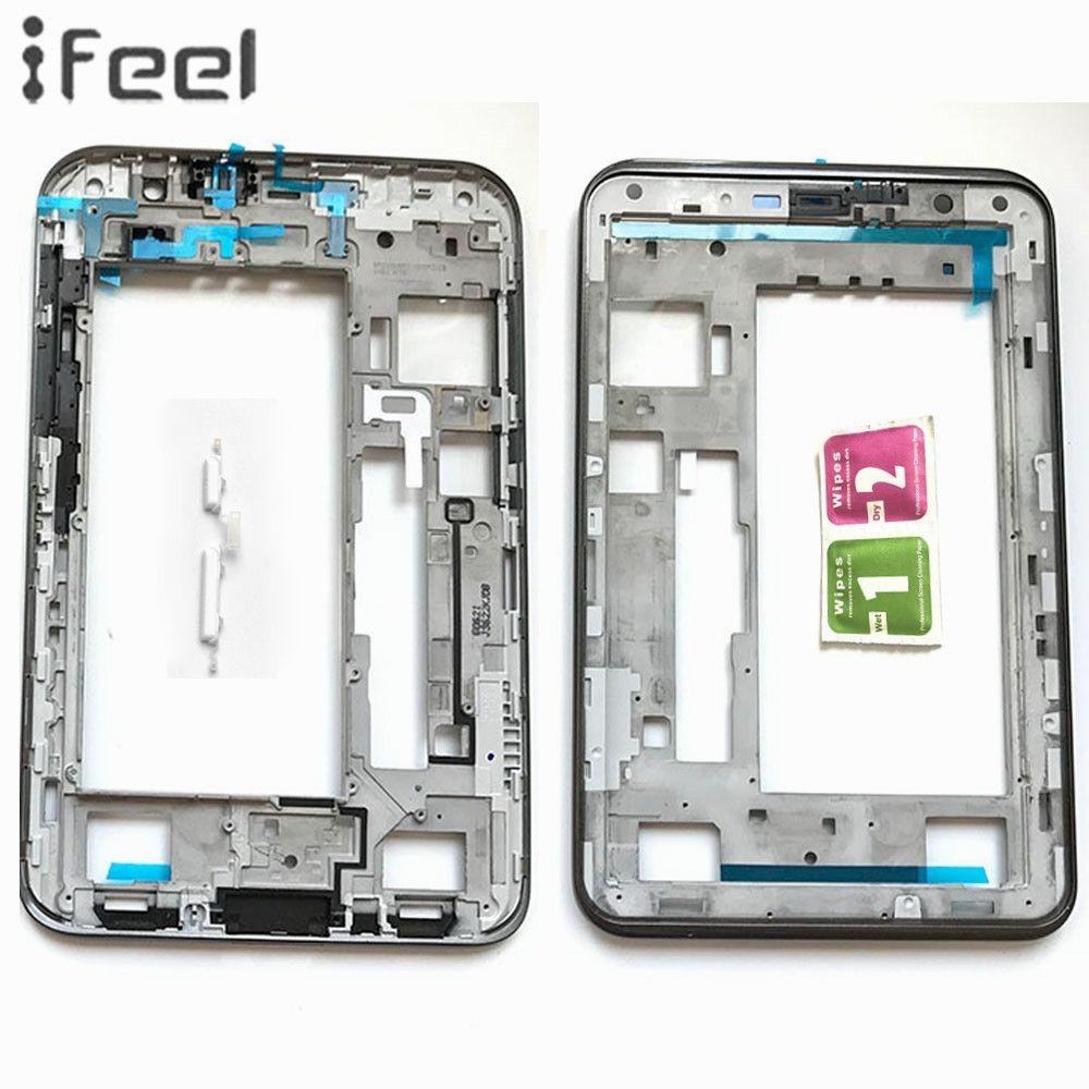 Neue Vordere Halter Nahen Plate Frame Lünette Gehäuse + Seitentaste Für Samsung Galaxy Tab 2 7,0 P3110 P3100 Schwarz/weiß