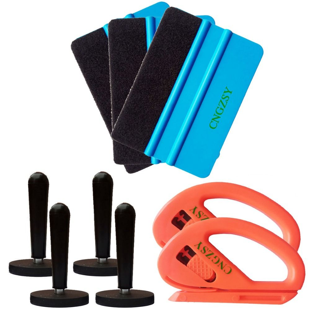3M felt Squeegee magnet cutter Set Pro Tool Vehicle Windshield Film kit Combo Car Wrap Vinyl Tool Window Film Tinting Tools K13