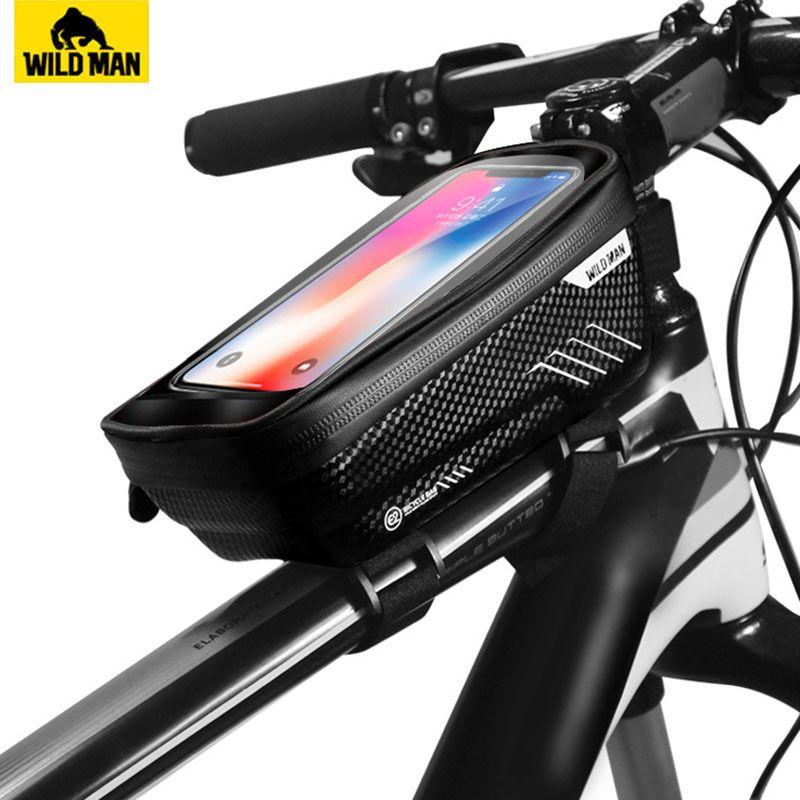 Sauvage homme VTT sac étanche à la pluie vtt avant sac 6.2 pouces étui de téléphone portable vélo Top Tube sac cyclisme accessoires