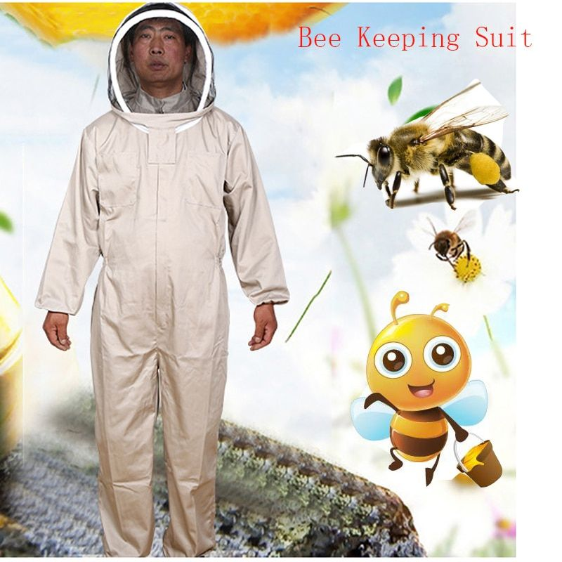 Beekeeping Jacket Veil Set Camouflage Anti-bee Protective Safety Clothing Smock Equipment Supplies Bee Keeping Suit Jacket+Pant