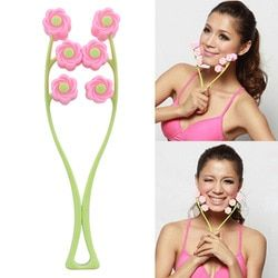Portable Face Lift Massage Roller Flower Shape Elastic Anti Wrinkle Face-Lift Slimming Face Face Shaper Relaxation Beauty Tool
