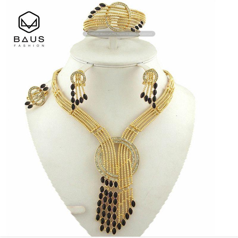 Mode Eritrea Dubai indische arabische gold schmuck-Set Äthiopischen gold farbe Nigerianischen Hochzeits afrikanische perlen schmuck-set für frauen
