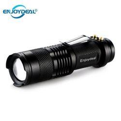 Senter LED Mini 2000LM Q5 LED Flashlight Torch AA/14500 Disesuaikan Fokus Zoom Lampu Obor Senter Pena Tahan Air untuk Outdoor panas