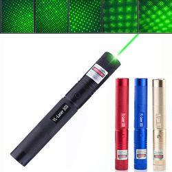 Green Laser Pointer Pen Adjustable Zoomable Focus Burning Lazer 303 532nm Continuous Line 500 to 10000 meters Laser range