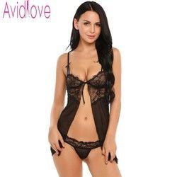 Avidlove Sexy Frauen Dessous Phantasie Unterwäsche Mit G-string Fitness Babydoll Nachtwäsche Sexy Dessous Heiße Unterwäsche Spitze Nachtwäsche