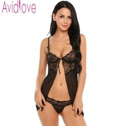 Avidlove Sexy Women Lingerie Fancy Underwear With G-string Fitness Babydoll Nightwear Sexy Lingerie Hot Underwear Lace Sleepwear