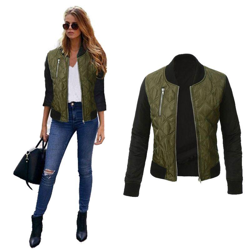 New Jacket Coat 2017 Fashion Autumn Basic Jackets Casaco <font><b>Feminino</b></font> Baseball Bomber Jacket Women Spring Cothing Coats For Women