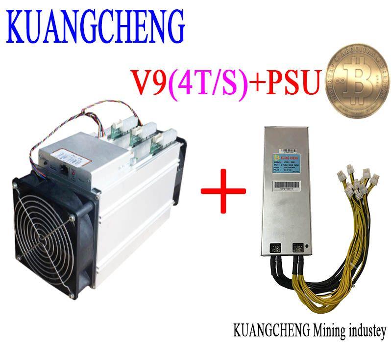 KUANGCHENG asic miner BITMAIN antminer V9./s (mit PSU) Bitcoin Asic miner V9 Besser als AntMiner S9 WhatsMiner M3 T9 + E9
