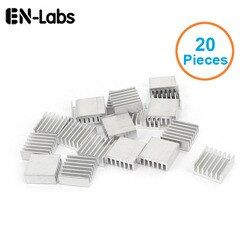 En-Labs New 20pcs Silver 14x14x6mm Aluminum Heat Sink Radiator Heatsink for CPU,GPU, Electronic Chipset heat dissipation