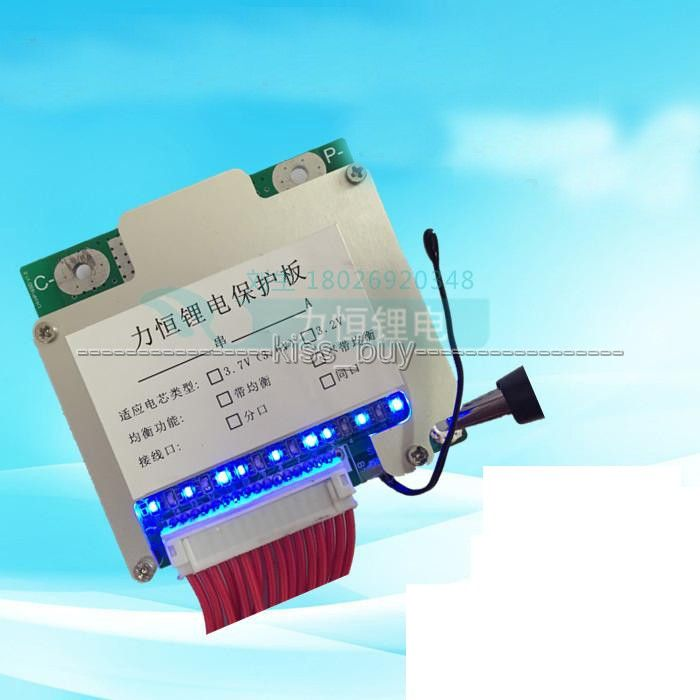 13S 48V Li-ion Lithium Cell 30A 18650 Battery Protection BMS PCM Board with Balance for electric bike protection function