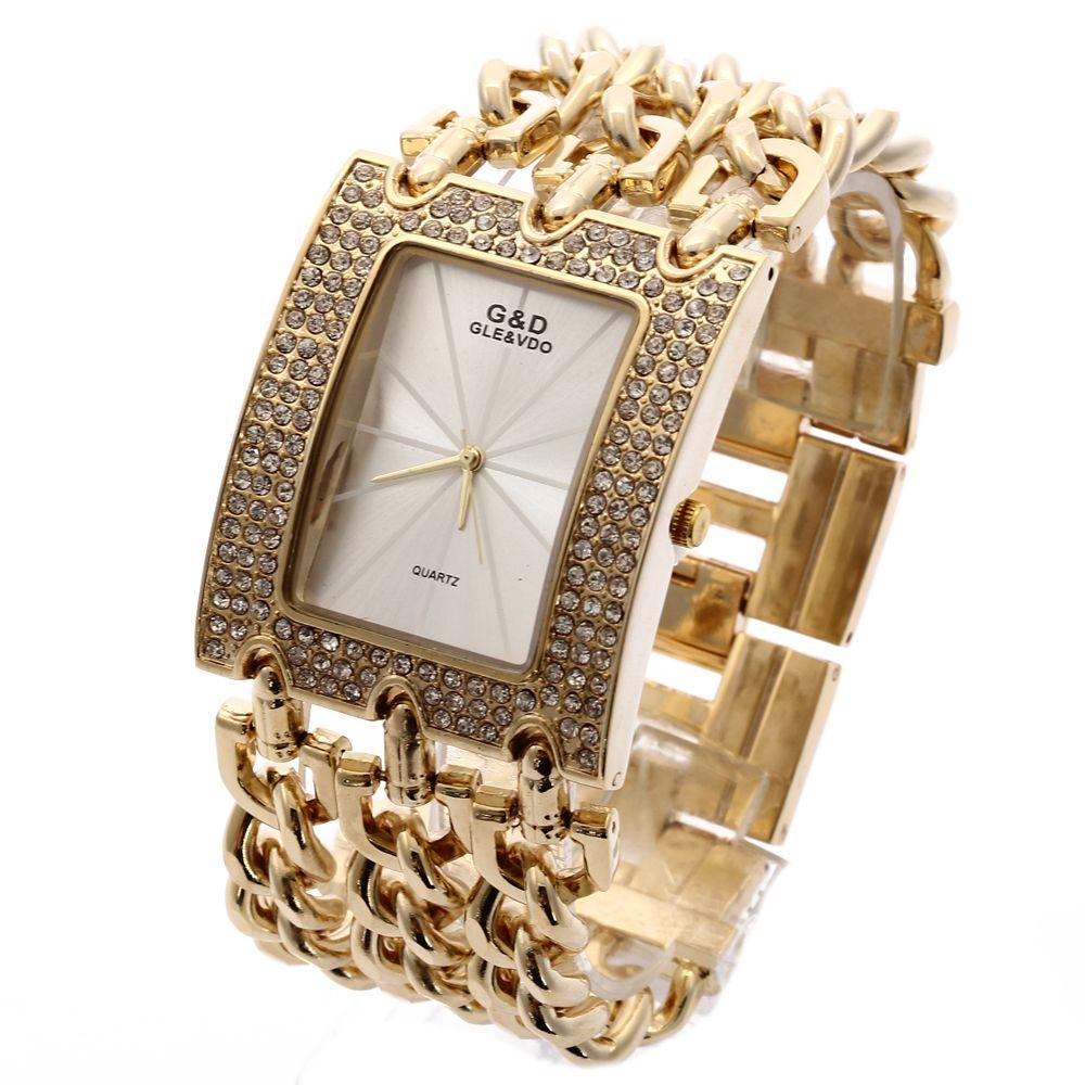 G&D Top Brand Luxury Women Wristwatches Quartz Watch Gold Relogio <font><b>Feminino</b></font> Saat Dress Watch Relojes Mujer Lady Clock Gifts Jelly