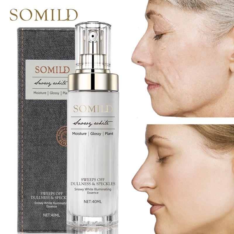 SOMILD Luxus Koreanische Kosmetik Snowy Weiß Gesicht Serum Bleaching Frauen Straffende Emulsion Pflanzen Essenz Hautpflege Falten Creme