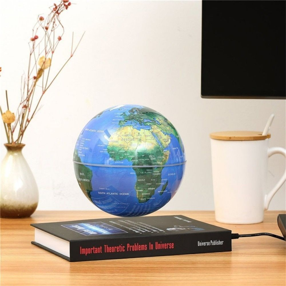 Innovative 3 inch Globe Book Magnetic Levitation Floating Anti Gravity Globe World Map Magnetic Rotating Globe Discoloration