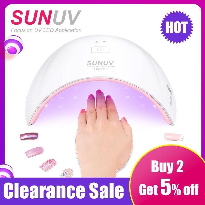 SUNUV SUN9c Plus 36 W UV Lumière LED Nail Sèche UV LED Gel Nail Lampe Arqué En Forme de Lampes pour Ongles art Parfait Thumb Séchage Solution