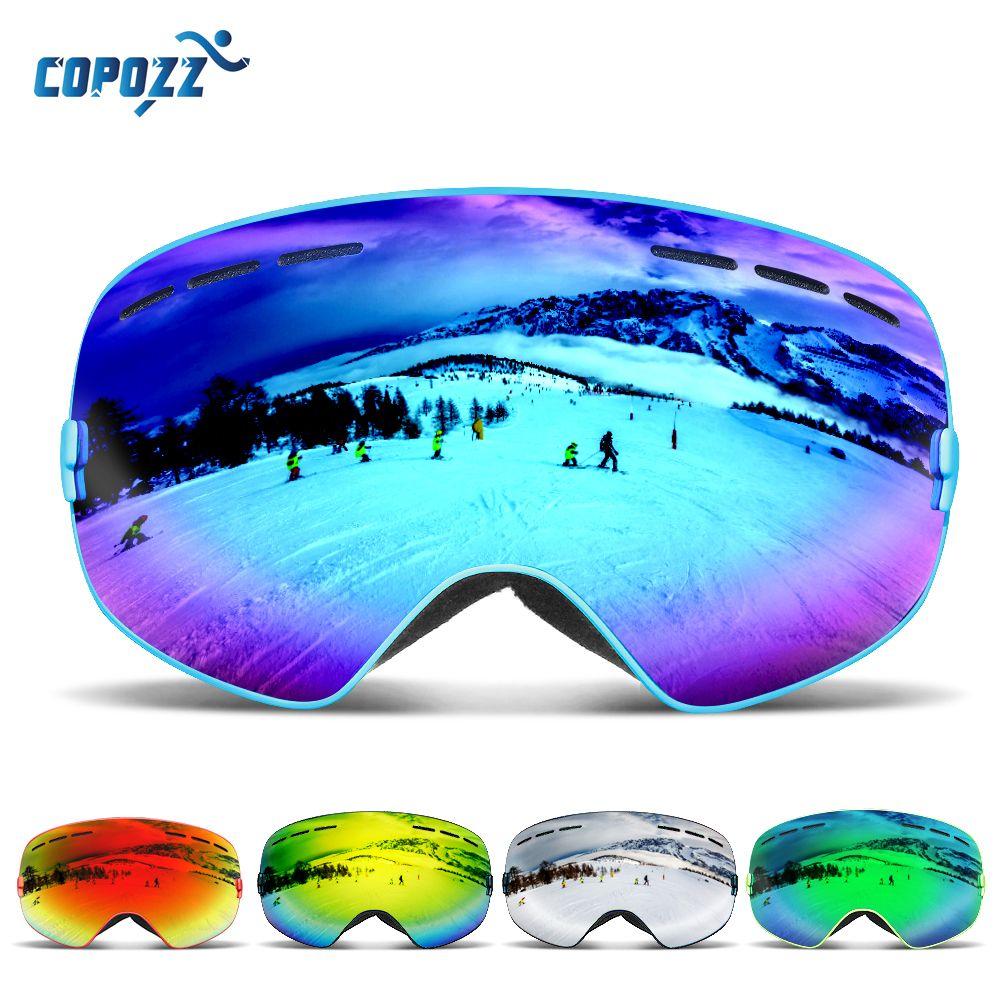 COPOZZ Brand Ski Goggles Men Women Snowboard Goggles Glasses for Skiing UV400 Protection Snow Skiing Glasses Anti-fog Ski Mask