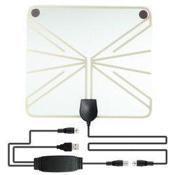 Soonhua Diperkuat HDTV Antena 50-100Km Rentang Indoor Digital TV Antena 1080 P HD Penguat Sinyal Penguat Transparant gaya