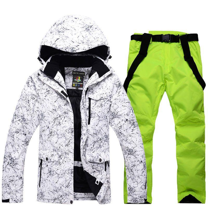 Schnee Jacken Mann/Frau Snowboarden Kleidung Winter Outdoor-sportarten skianzug sets Wasserdichte Starke-30 Warme Kostüm jacken + hosen