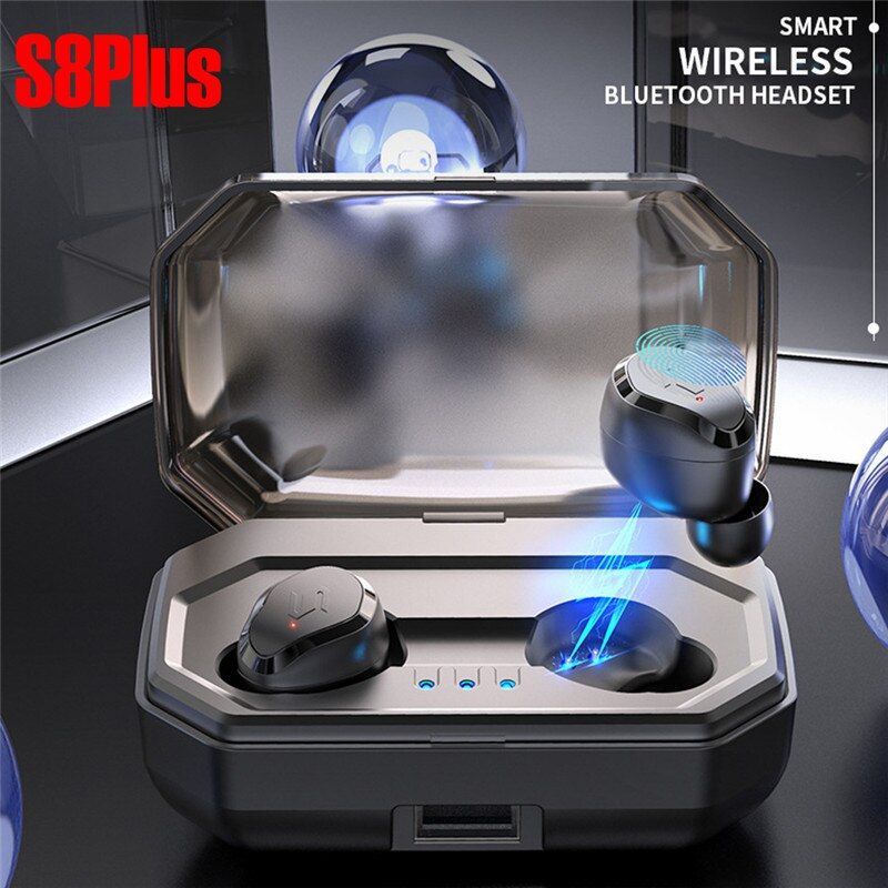 TWS-S8 PLUS Wireless Bluetooth Headset Touch Mini New 5.0 Sports Wireless Binaural Waterproof 3000mah Charging Box HIFI Sound