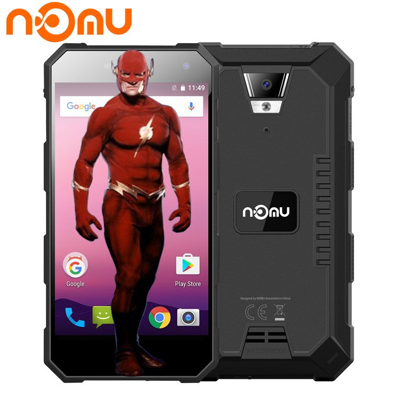 Original Nomu S10 Pro Stoßfest 5,0 ''Mobile Telefon 3 GB RAM 32 GB Schnelle Lade IP68 + Wasserdichte 5000 mAh Android 7.0 4G Smartphone