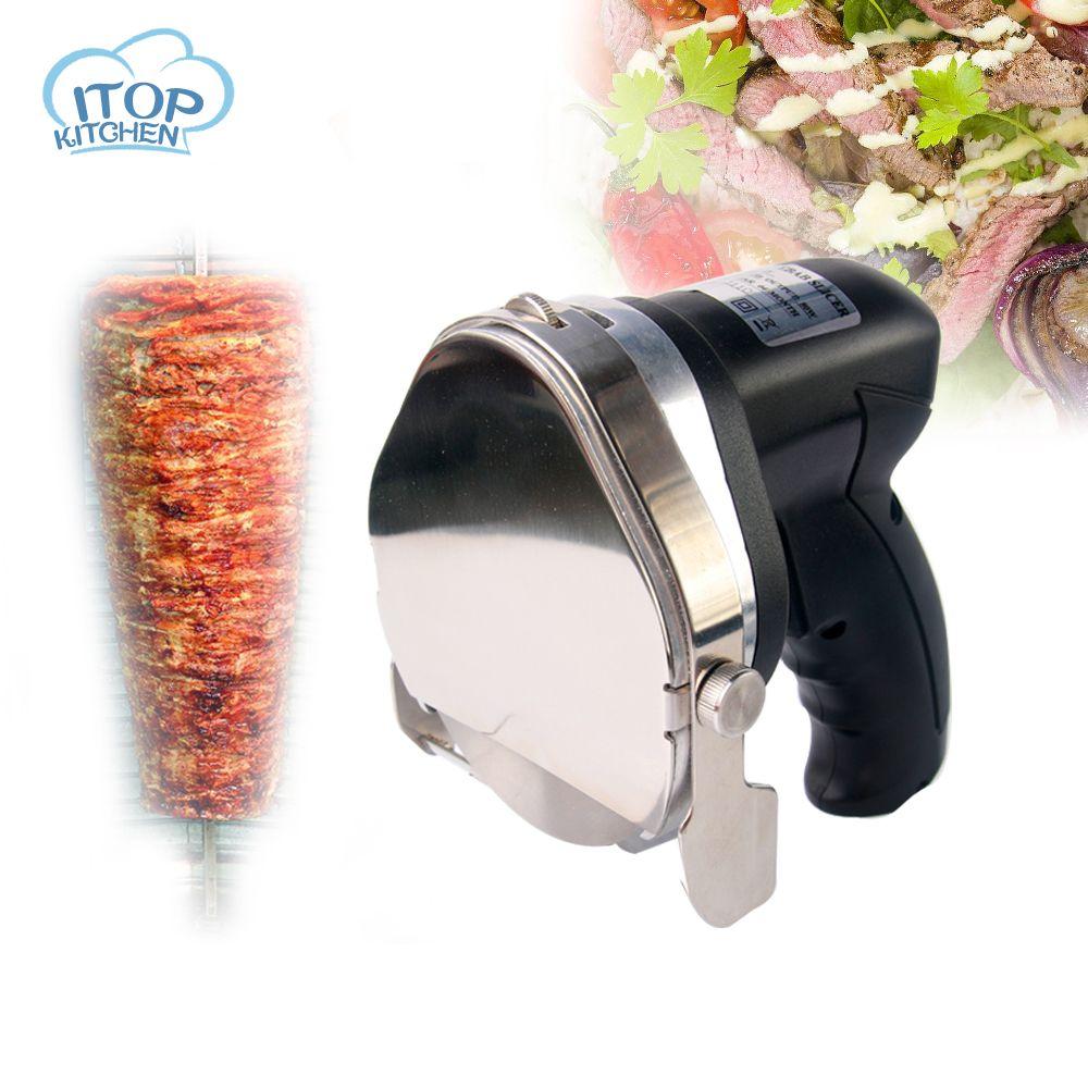 ITOP 110 V/220 V/240 V Kebab Slicer Gyros Messer Fleischschneider Shawarma Döner Schneidemaschine 0012-03