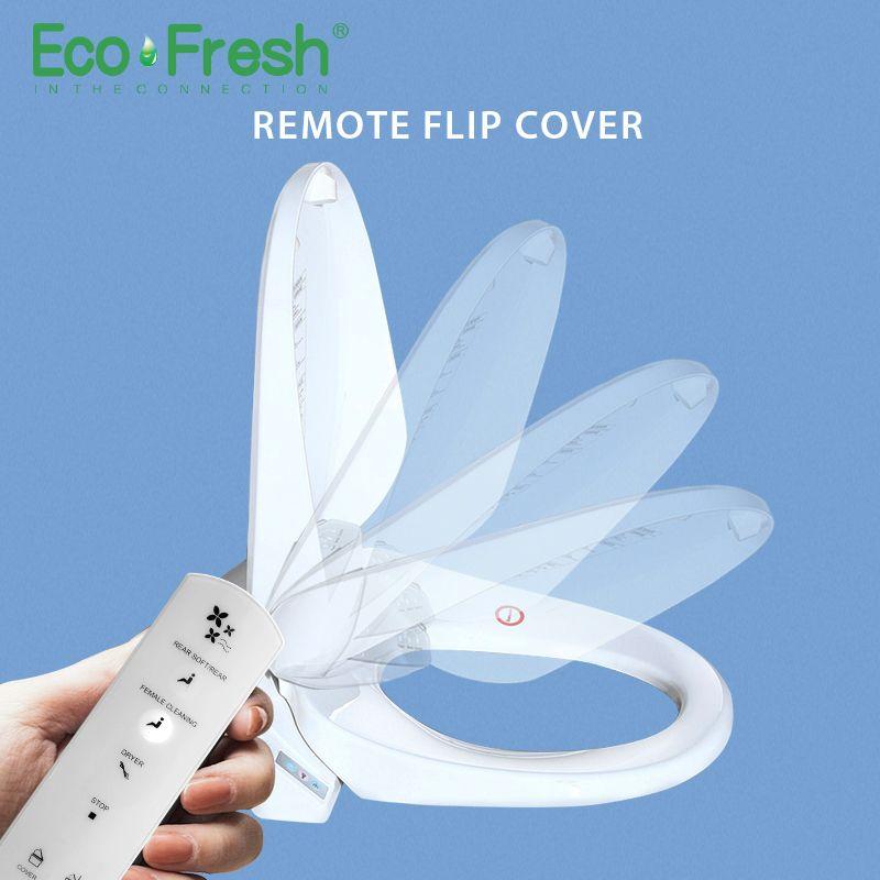 EcoFresh Smart toilet seat auto seat cover flip Washlet Electric Bidet intelligent heated toilet seat cover lighting Massage