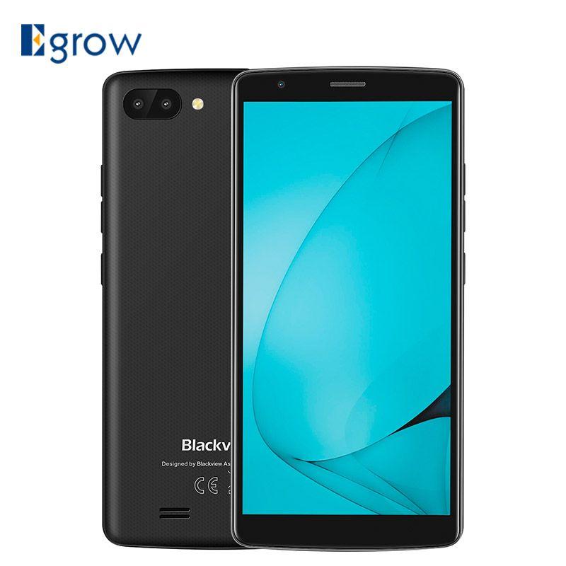 <font><b>Blackview</b></font> A20 Smartphone 5.518:9 Screen Android GO OS MTK6580M Quad Core 1GB RAM 8GB ROM Dual Back Cameras 3000mAh GPS 3G Phone