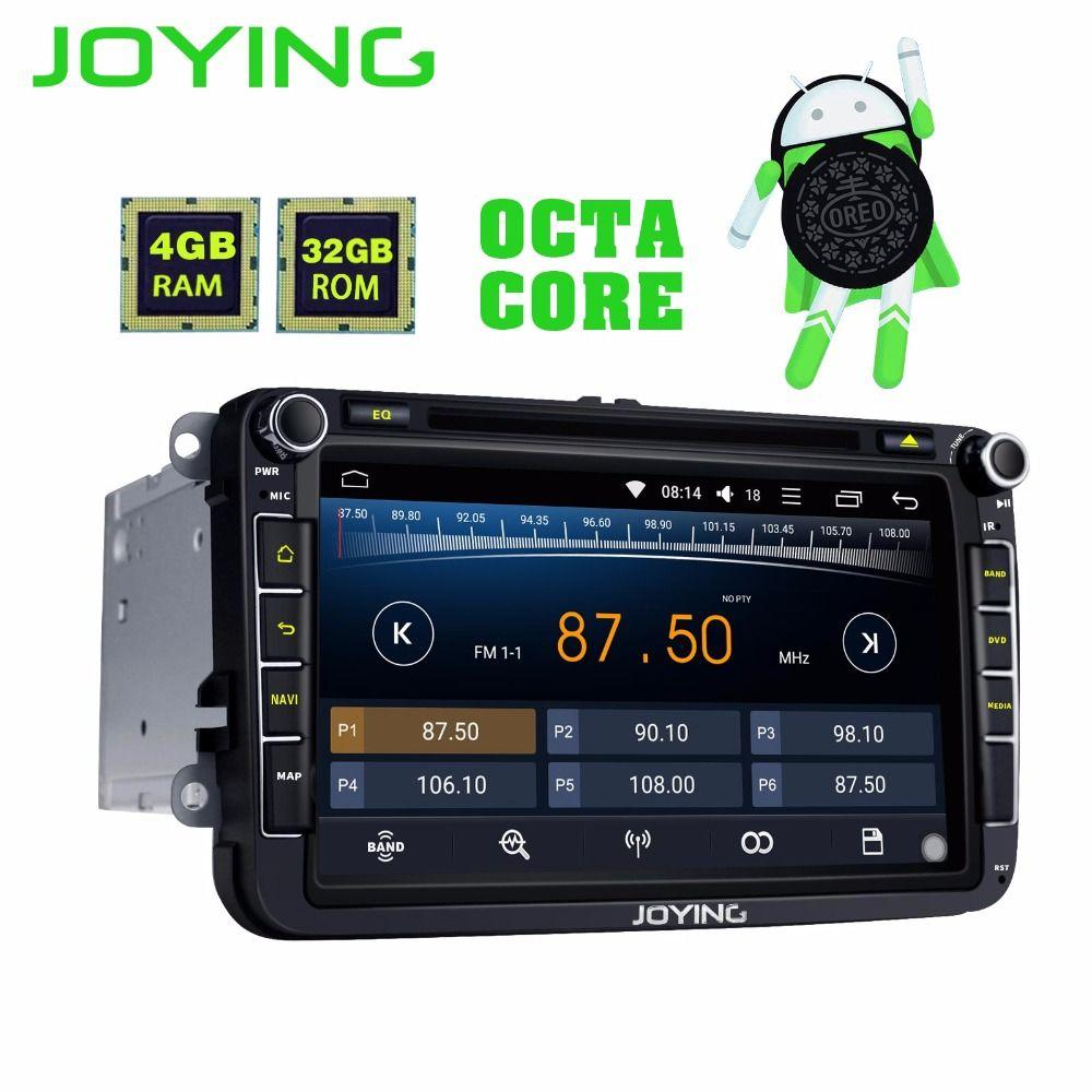 JOYING 4GB RAM Android 8.0 car autoradio for Jetta/Golf stereo for Passat GPS player for Polo head unit for Skoda Rapid/Octivia
