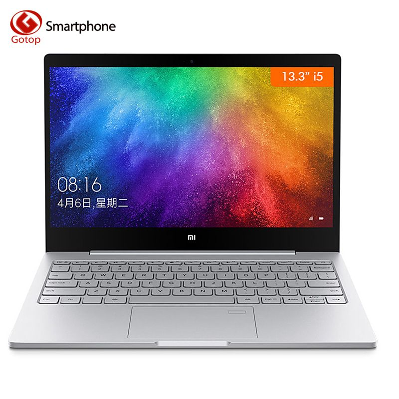 Original 13.3 Inch Xiaomi Mi Notebook Air Quad-Core Enhanced Version Fingerprint Recognition Intel i5-8250U Windows 10 8GB+256GB