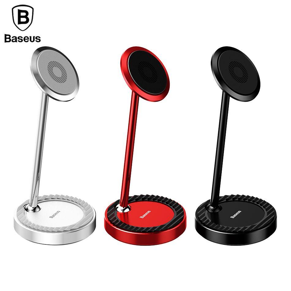 Baseus Desktop Holder Stand for iphone Samsung xiaomi Magnet phone holder 360 Degree Desk Magnetic support tablet desktop holder