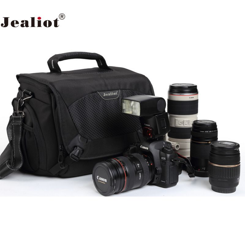 Jealiot Professional slr bag for Camera shoulder Bag Photo dslr digital camera bag shockproof Video lens case for Canon 5d Nikon