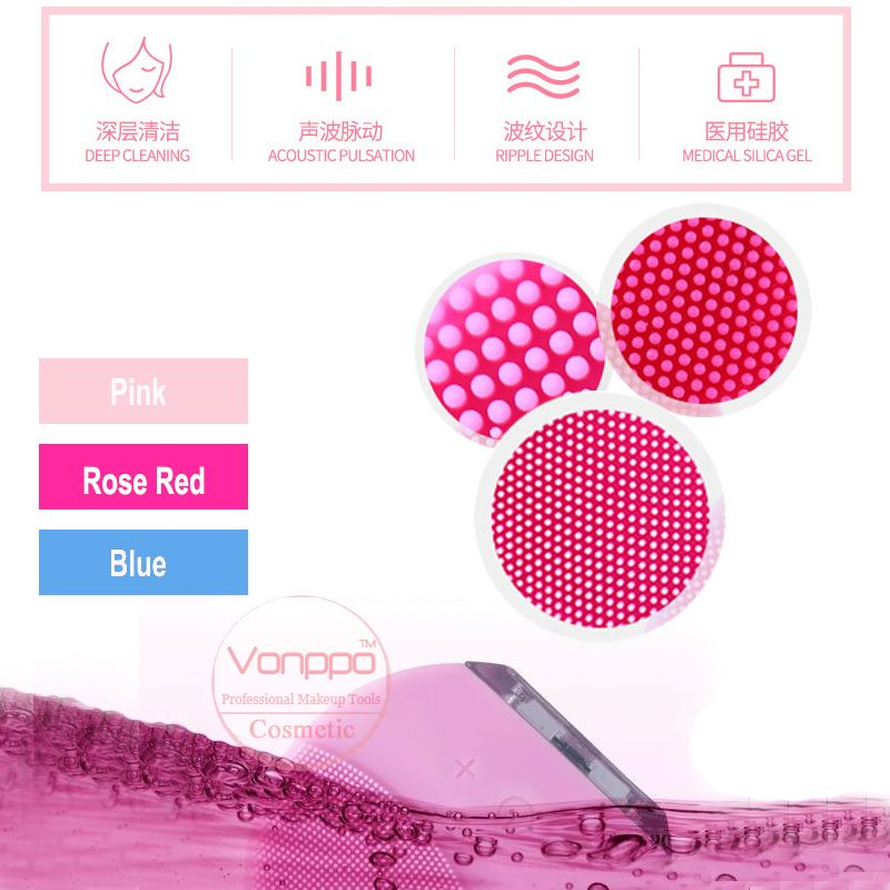 New Facial Brush Waterproof Silicone Facial Devices Tools Free Shipping